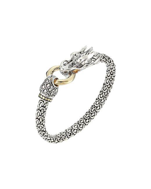 John Hardy - Metallic Legends Naga 6mm Station Bracelet (silver/18k Gold) Bracelet - Lyst