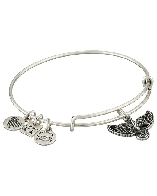 ALEX AND ANI - Metallic Charity By Design Spirit Of The Eagle Charm Bangle - Lyst