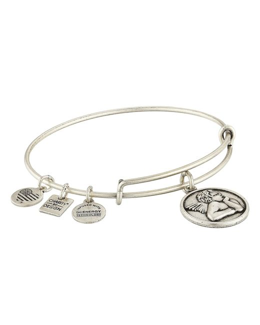 ALEX AND ANI - Metallic Charity By Design - Cherub Expandable Charm Bangle Bracelet - Lyst