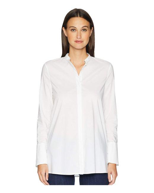 ESCADA - Nalisy Mock Collar Button Up (white) Women's Clothing - Lyst