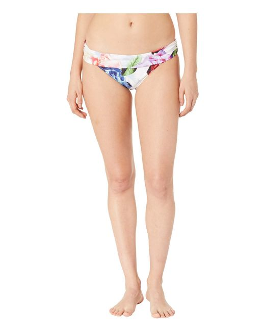 9452a097555 La Blanca - Bloomfield Shirred Band Hipster Bottoms (white) Women s Swimwear  ...