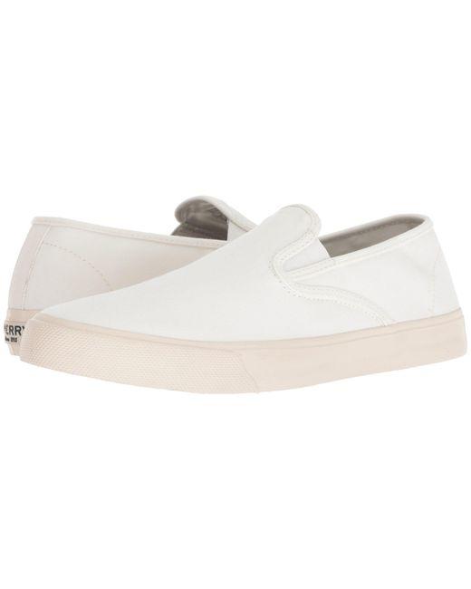 Sperry Top-Sider - White Captain's Slip-on (black) Men's Slip On Shoes for Men - Lyst