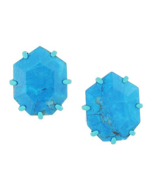 Kendra Scott - Multicolor Morgan Earrings (matte/aqua/aqua/howlite) Earring - Lyst