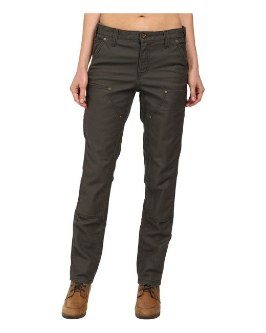 Carhartt - Green Slim Fit Double-front Canvas Dungaree Jeans - Lyst