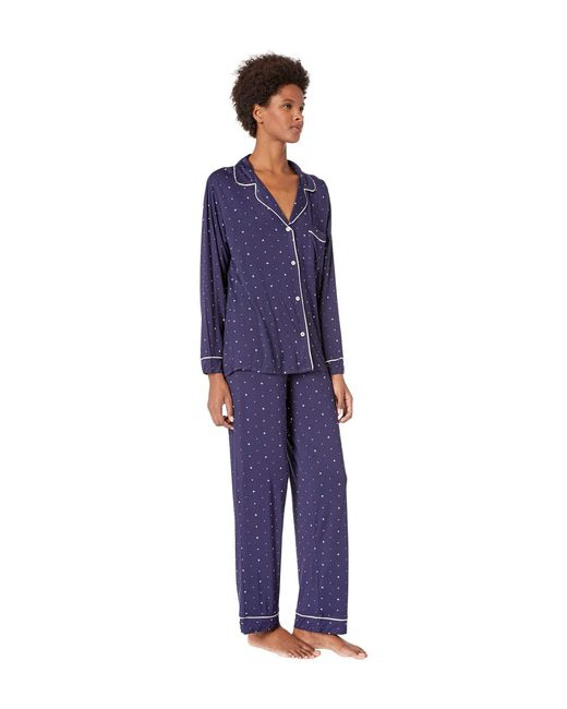 ... Eberjey - Blue Sleep Chic - The Long Pj Set (northern Stars ivory) ... 538f78d4d2b