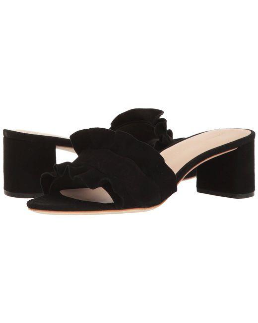 c56bdb0927e Loeffler Randall - Black Vera Ruffle Sandal Mule (silver Metallic Leather)  Women s Shoes ...