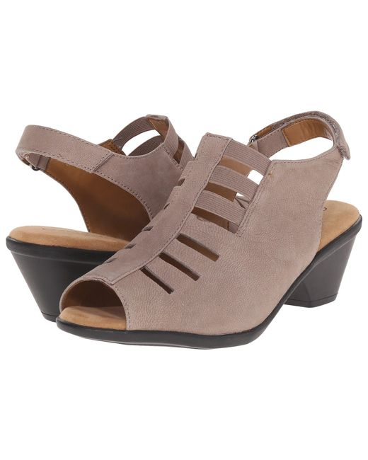 Comfortiva - Gray Faye (smoke Distressed Foil Suede) Women's 1-2 Inch Heel Shoes - Lyst