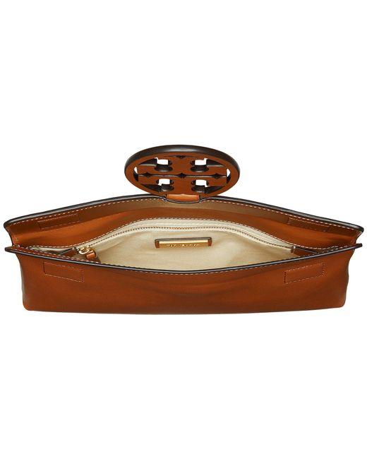 80da91e04950 ... Tory Burch - Brown Miller Clutch (black) Clutch Handbags - Lyst ...