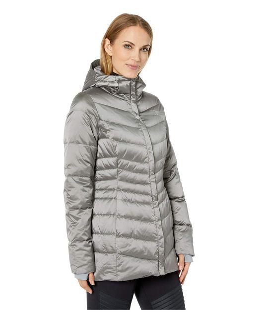 fd2ed088d9206 ... The North Face - Gray Aconcagua Parka Ii (shiny Asphalt Grey) Women s  Coat ...