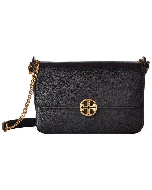 e3e0ed57f36 Lyst - Tory Burch Chelsea Crossbody (black) Cross Body Handbags in Black