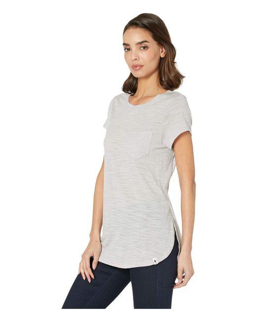 ebb8812d ... Smartwool - Gray Everyday Exploration Slub Short Sleeve Tee (ash  Heather) Women's T Shirt ...