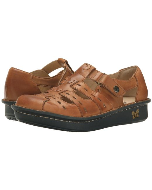 Alegria - Brown Pesca (tawny) Women's Hook And Loop Shoes - Lyst