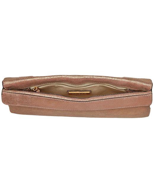 aed917d355dc ... Tory Burch - Miller Metallic Clutch (seashell Pink) Clutch Handbags -  Lyst ...