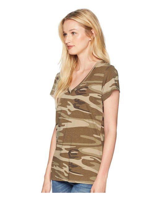 7ec0691f68 ... Alternative Apparel - Natural Everyday V-neck (khaki Camo) Women s  Clothing ...