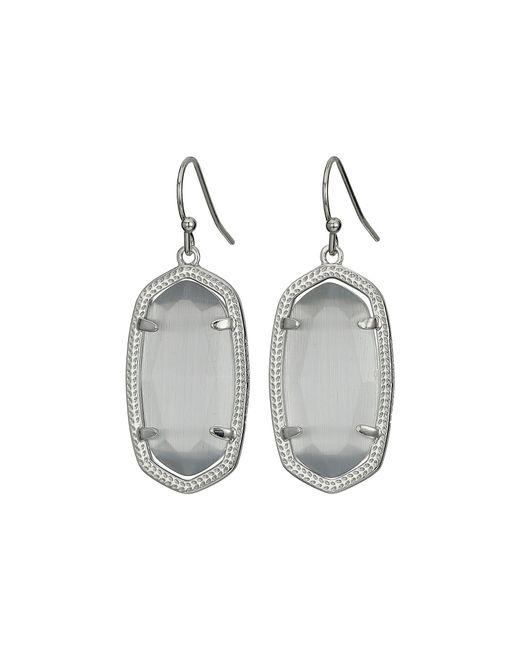 Kendra Scott - Metallic Dani Earrings (rhodium/white) Earring - Lyst