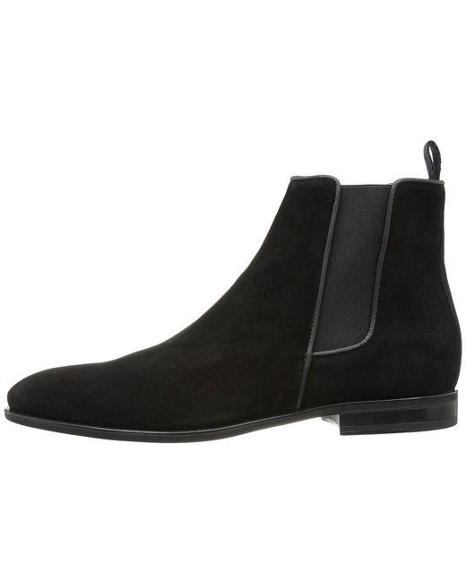 cdea829f1b9 ... Aquatalia - Adrian (black Dress Suede) Men s Pull-on Boots for Men ...