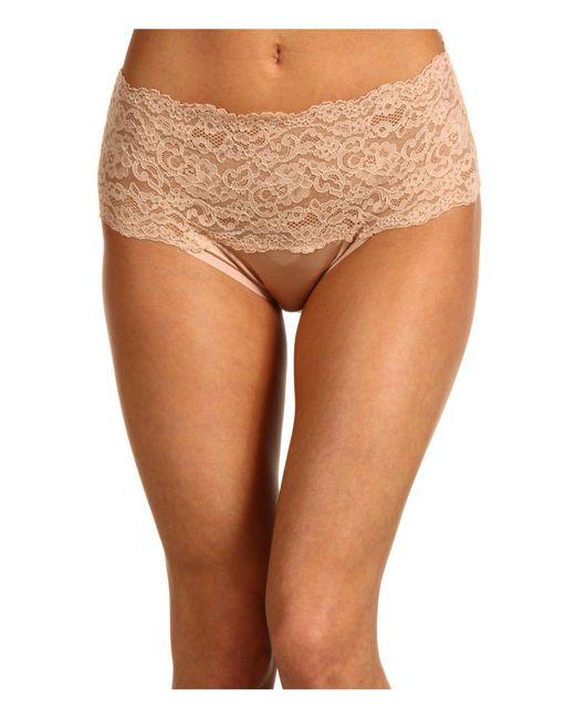 Hanky Panky - Brown Silky Skin High Rise Panty (mocha) Women's Underwear - Lyst