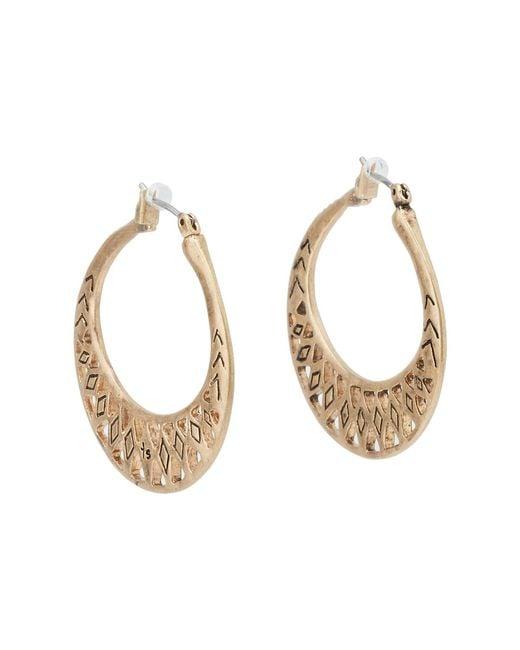 The Sak - Metallic Metal Works Openwork Metal Hoop Earring (gold) Earring - Lyst