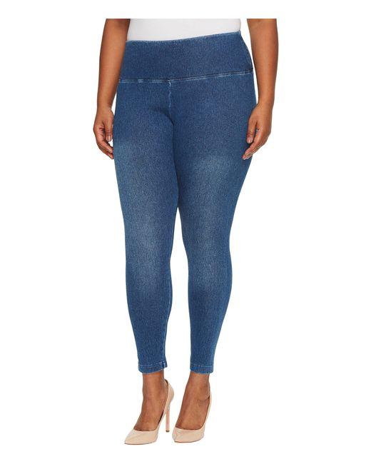 Lyssé - Blue Plus Size Denim Leggings - Lyst