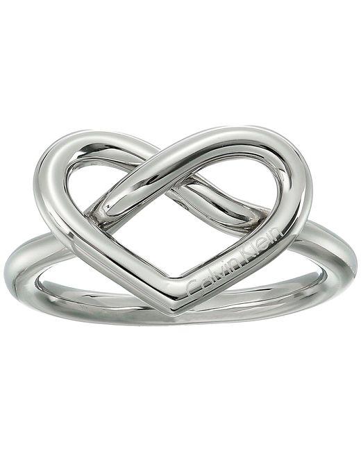 Calvin Klein - Metallic Charming Ring (silver) Ring - Lyst