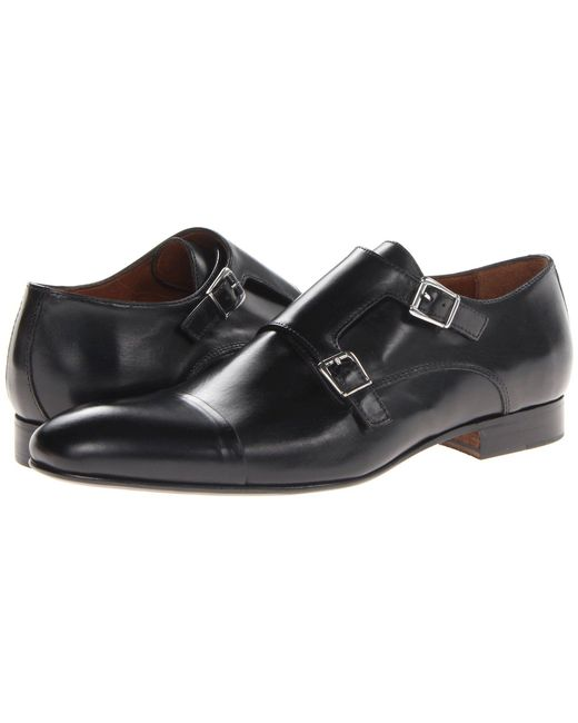 Massimo Matteo - Dbl Monk Cap Toe (black) Men's Slip On Shoes for Men - Lyst
