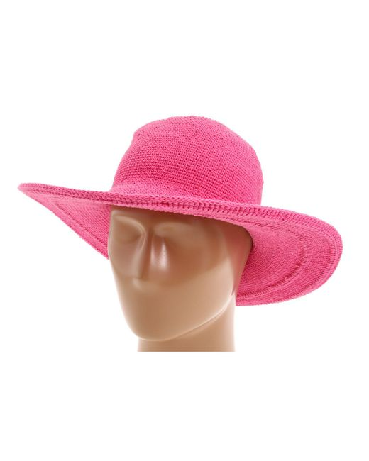San Diego Hat Company - Chl5 Floppy Sun Hat (hot Pink) Knit Hats - Lyst