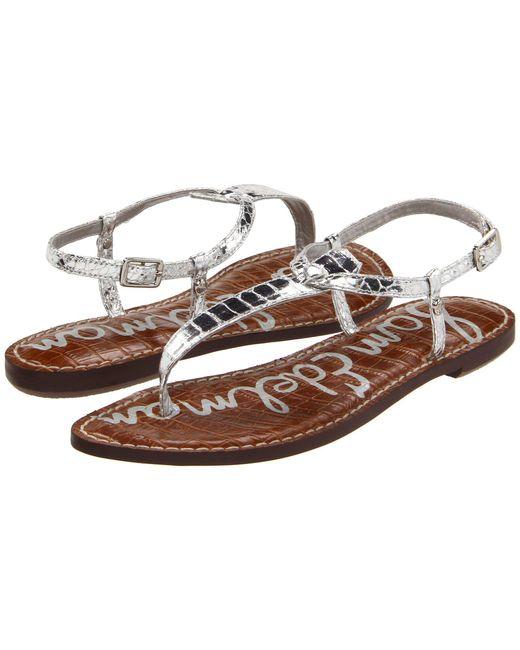 Sam Edelman - Metallic Gigi (dusty Rose Royal Snake Print Goat Leather) Women's Sandals - Lyst
