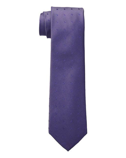 Calvin Klein - Purple New Reflection Dot (black) Ties for Men - Lyst