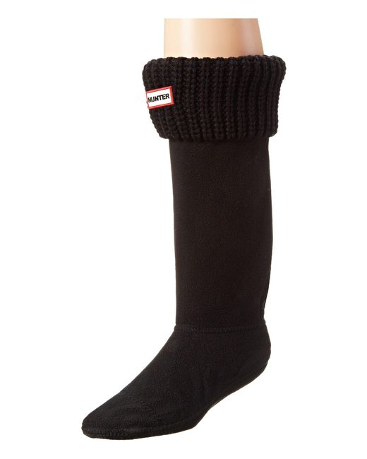 Hunter - Black Half Cardigan Boot Socks (white) Women's Crew Cut Socks Shoes - Lyst