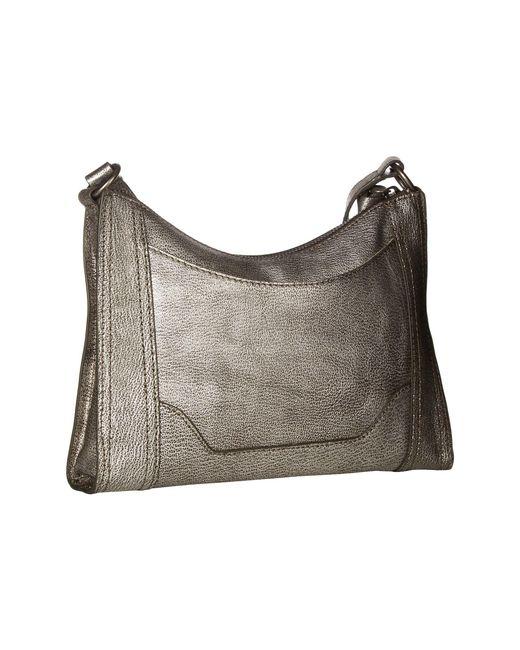 29d88b9dae23 ... Frye - Metallic Melissa Zip Crossbody (cognac Antique Pull Up) Cross  Body Handbags ...