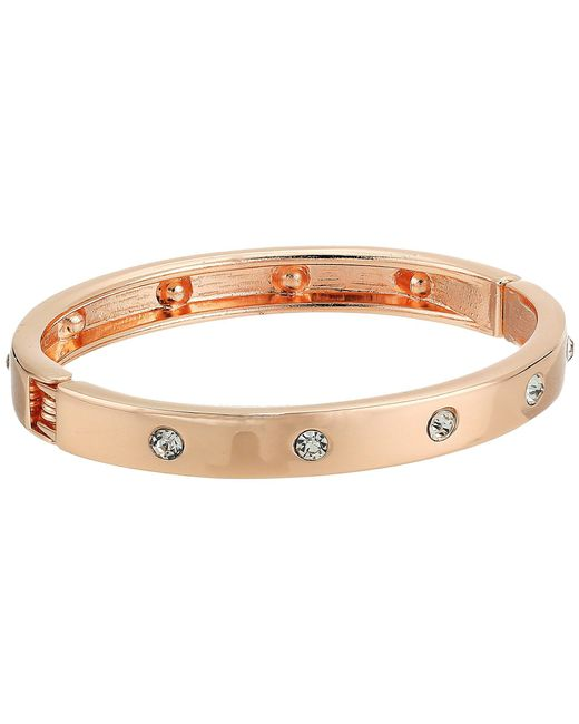 Guess - Metallic Narrow Hinge With Crystal Bangle Bracelet - Lyst