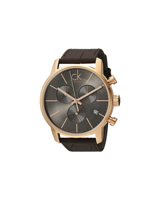 Calvin Klein - Gray City Watch - K2g276g3 (cool Grey/brown) Watches for Men - Lyst