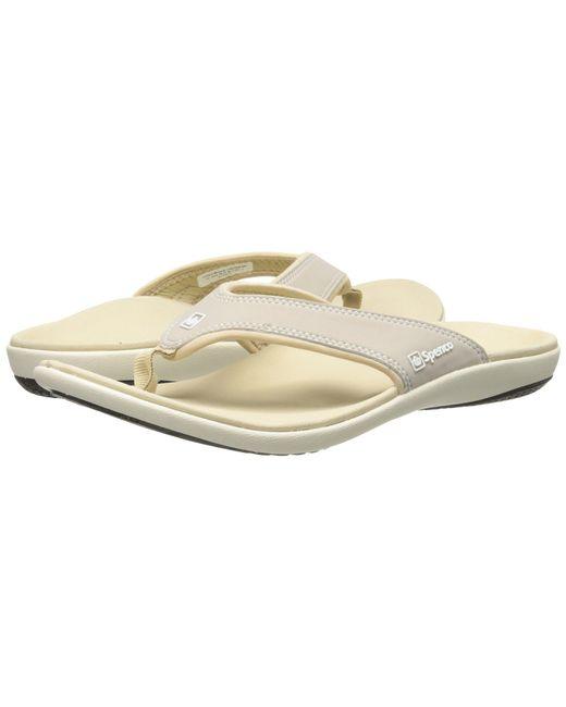 Spenco - Metallic Yumi (stone) Women's Shoes - Lyst