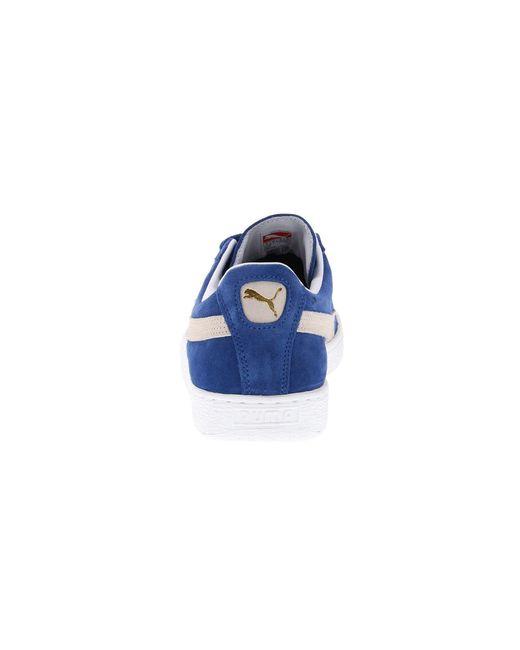 801d2fccbe40 ... PUMA - Blue Suede Classic (black white) Shoes - Lyst ...