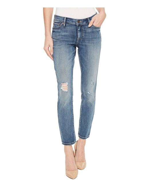 Lucky Brand - Blue Lolita Crop Jeans In Hubbard Destruct (hubbard Destruct) Women's Jeans - Lyst