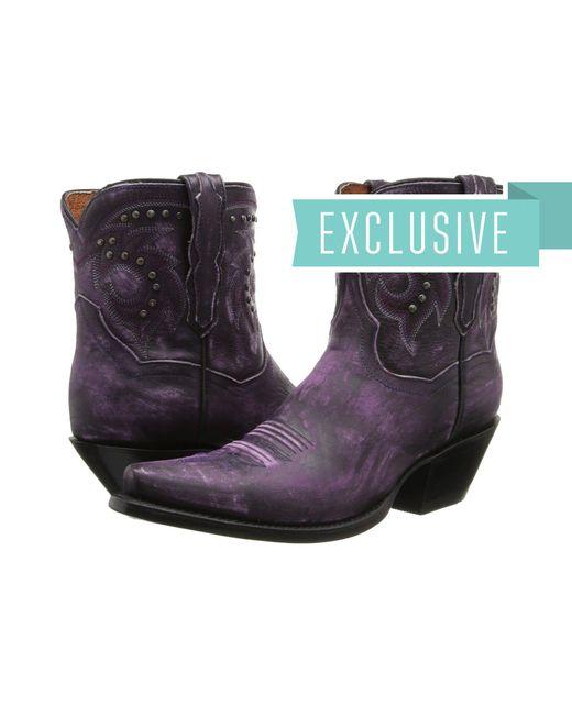 Dan Post - Black Flat Iron Studs (purple Vintage) Cowboy Boots - Lyst