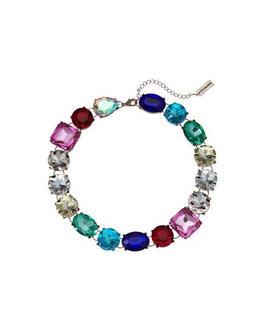 Steve Madden - Metallic Rainbow Jeweled Statement Necklace (multi/yellow Gold-tone) Necklace - Lyst