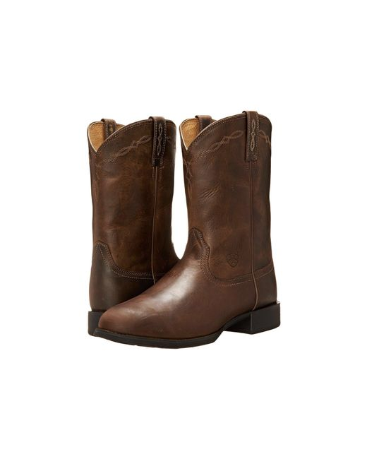 Ariat - Heritage Roper (distressed Brown) Cowboy Boots for Men - Lyst