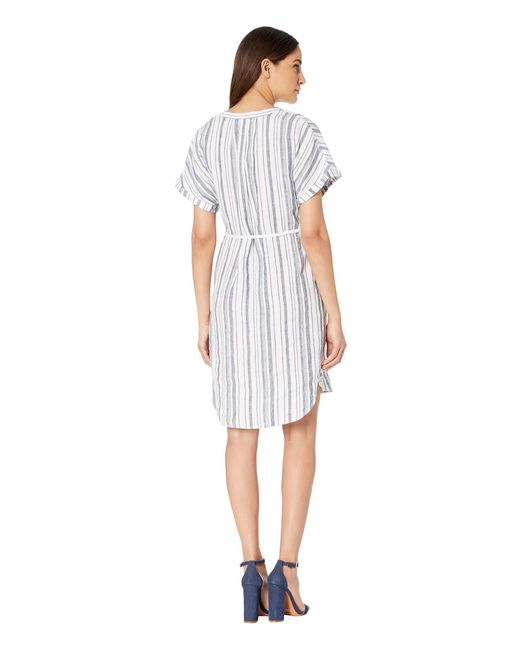 45d07a1126cdf ... Michael Stars - Amelee Beach Stripe Linen Caftan (admiral/white Stripe)  Women's Dress ...