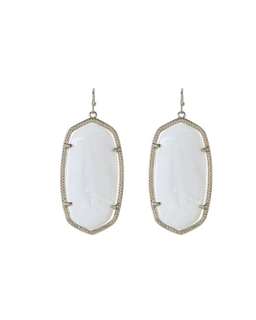 Kendra Scott - White Danielle Earrings - Lyst