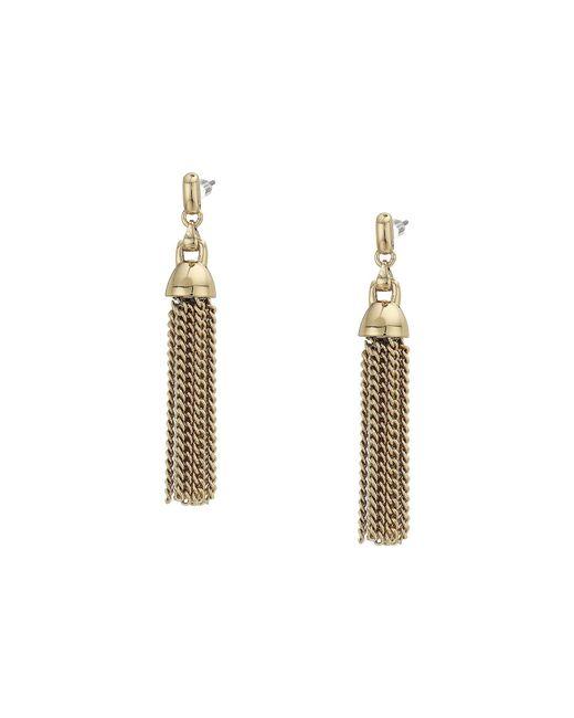 Lauren by Ralph Lauren - Metallic Tassel Earrings (gold) Earring - Lyst