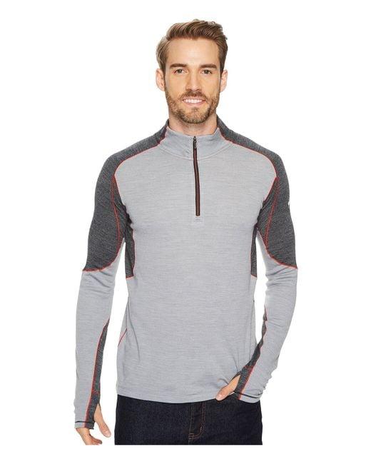 Smartwool - Gray Phd(r) Light 1/4 Zip (black) Men's Long Sleeve Pullover for Men - Lyst