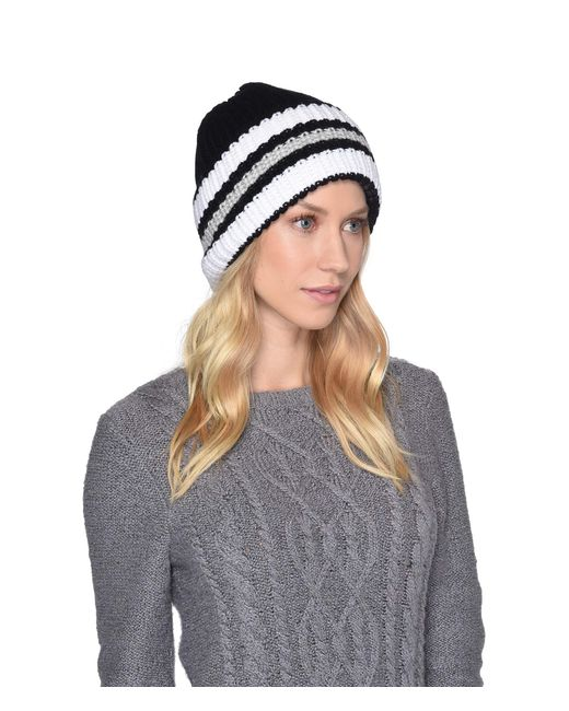 Ugg - Multicolor High Cuff Knit Hat (beige) Caps - Lyst