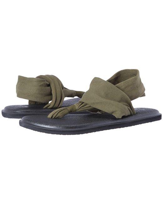 Sanuk - Green Yoga Sling 2 (charcoal) Women's Sandals - Lyst