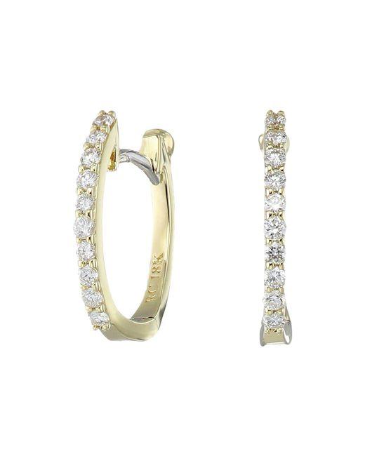 Roberto Coin - Metallic Diamond & 18k Yellow Gold Hoop Earrings/1.15 - Lyst