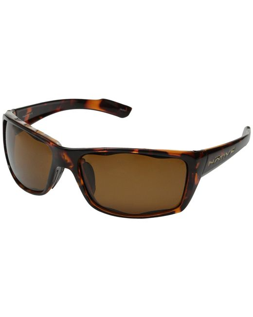 Native Eyewear - Brown Wazee Polarized (asphalt/grey Polarized Lens) Sport Sunglasses for Men - Lyst