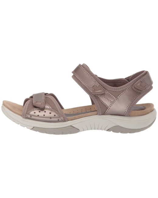 175bb93f901 ... Rockport - Multicolor Franklin Three Strap (taupe Metallic Leather) Women's  Shoes ...