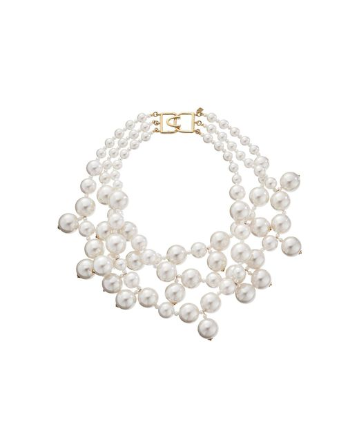 Kenneth Jay Lane - White S 5079nwp Necklace - Lyst