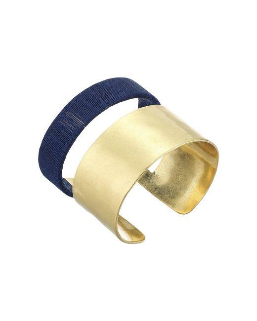 Lucky Brand - Metallic Wrapped Cuff Bracelet - Lyst