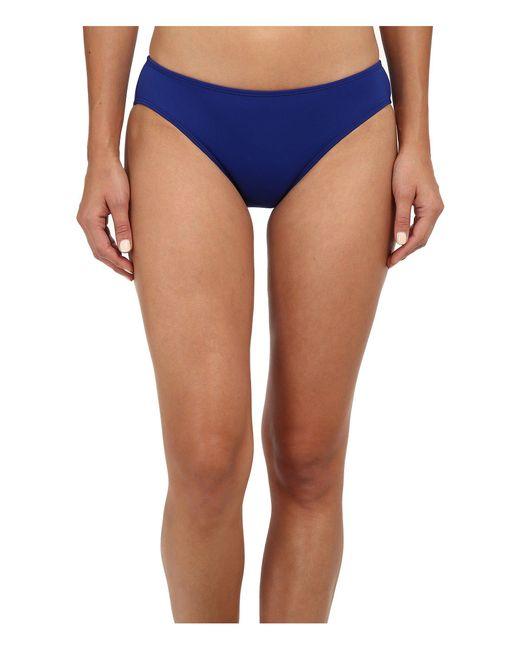 Lauren by Ralph Lauren - Blue Laguna Solids Hipster W/ Logo Plate Bottoms - Lyst